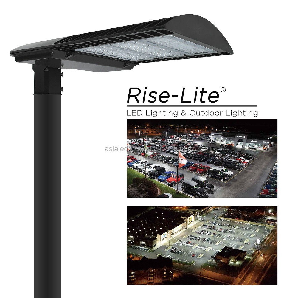 High power photocell dimmable driver 320w led shoebox street light for roadway