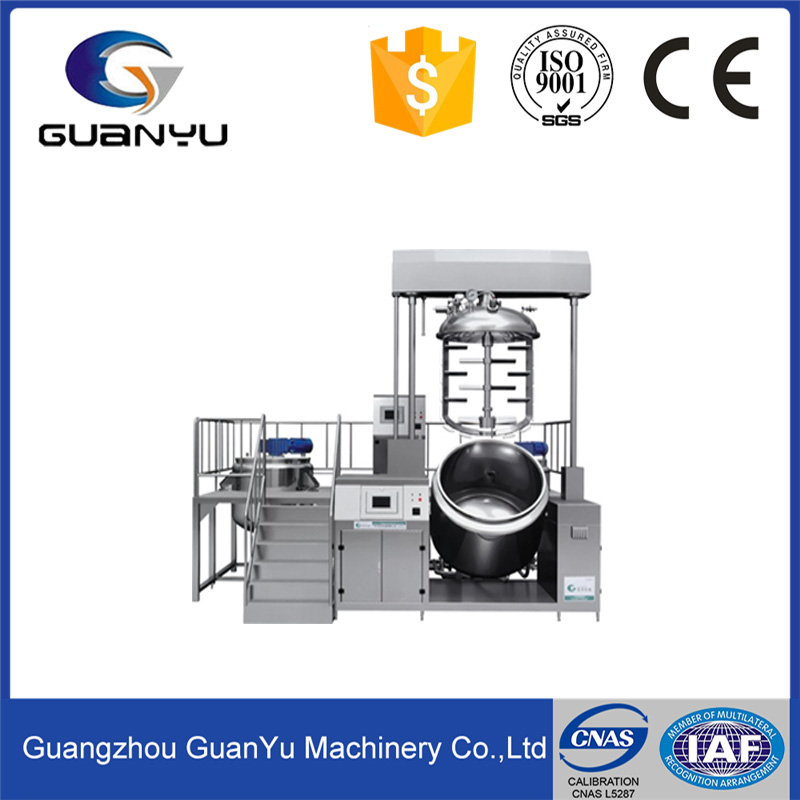 hot sales vacuum homogenous emulsifying mixer machine for making cosmetics cream and foundation