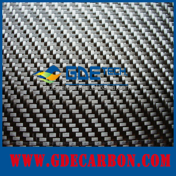 colored silver 3K twill woven carbon fiber cloth mixed metallic yarn