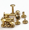 10x10x4mm Customized logo brass leather belt rivets screw chicago