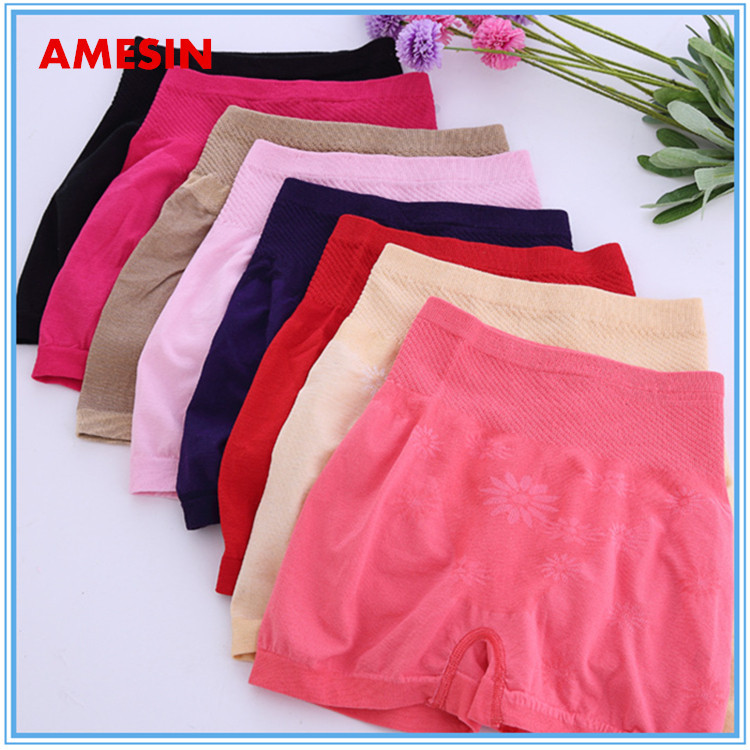 Fat Womens Cotton panty Old Ladies Seamless High Waist Boxer Panties