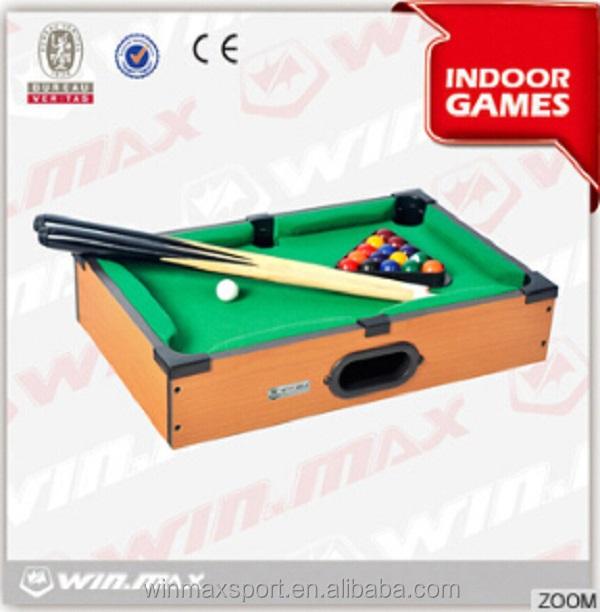 Mini wooden top korea children billiards table, sale billiards table