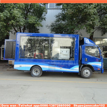 FAW left hand drive 10m3 screen publicity mobile advertising van for sale