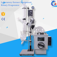 High Quality Lab Glass Distiller with Oil Water Bath Manual Lift