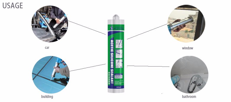 SA4000 silicone for application glass and metal/quick dry silicon sealant/waterproof silicone sealant