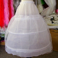 best price high quality underskirt wedding bridal decent gown dress 3 hoops puffy petticoats