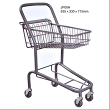 40L Double Plastic Basket Japan Style Shopping Trolley smart Cart for Supermarket
