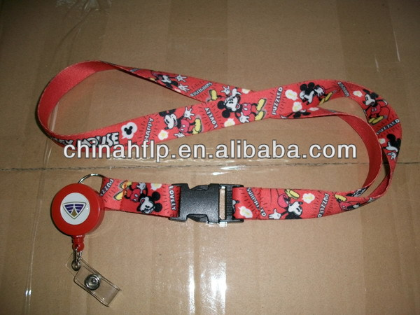 Folded hot sale fluorescent lanyard
