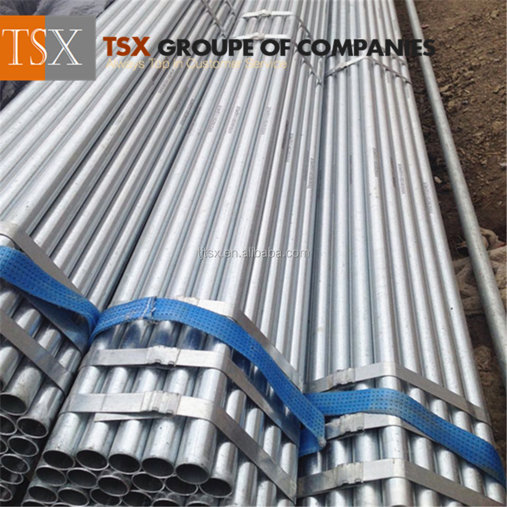 Tianjin Supplier TSX_G3034 scaffoldings used hot dip galvanized steel pipe / pre galvanized pipe