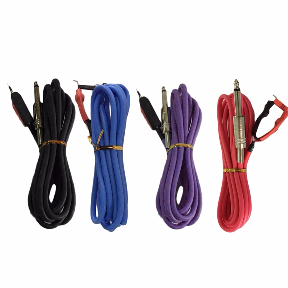 High Quality Professional 2.4M Silicone Copper Wire Tattoo Power Supply Clip Cord Cable Tattoo Power Accessories top quality