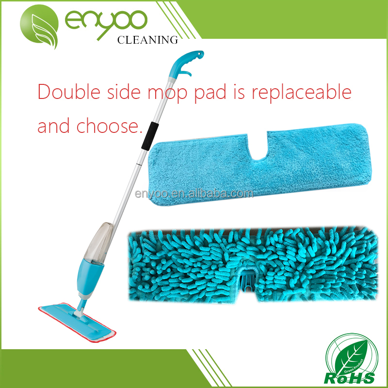 1-2 360 degree Dual-action household cleaning product, wet and dry double side floor microfiber foldable spray cleaning mop