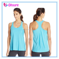 loose fit racer back tank top yoga wear gym clothing bamboo tank top for women