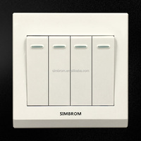Free sample four gang two way swall switch socket for Burma market