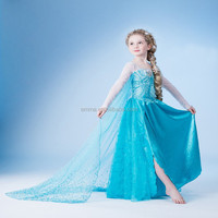 Halloween & carnival party frozen pretty elsa dress costume for kid BC8232