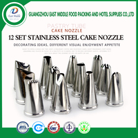 304 stainless steel 12pcs food grade piping cake nozzle dessert decorators baking tools