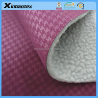 3 layers of multi-functional fabric using embossed Interlock fabric and TPU Film and artificial Berber Fleece