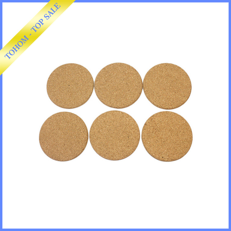 New arrival round drink cork coaster cup pad for promotion item