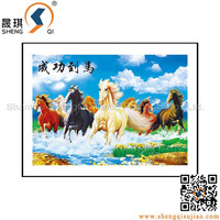 3D PP/PET Paintings in Plastic Frame Hot Animal Pictures 3D