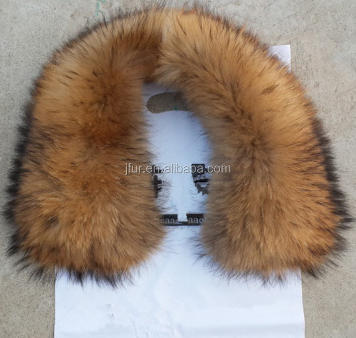 Genuine Raccoon Down Coat Fur Collar Detachable Trimming