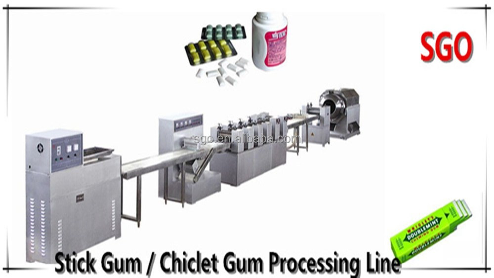 Best quality dragee chewing gum plant manufacturing machine