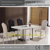 Popular stylish glass elegant dining table set