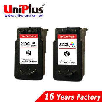 Third party brand remanufactured ink cartridge for Canon PG210 CL211 printer cartridges