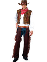 Western Cowboy Adult Wild West Party Mens Fancy Dress halloween Costume New Indian AGM4178