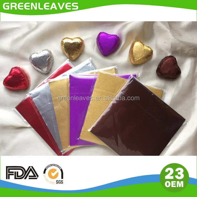 chocolate foil packaging materials