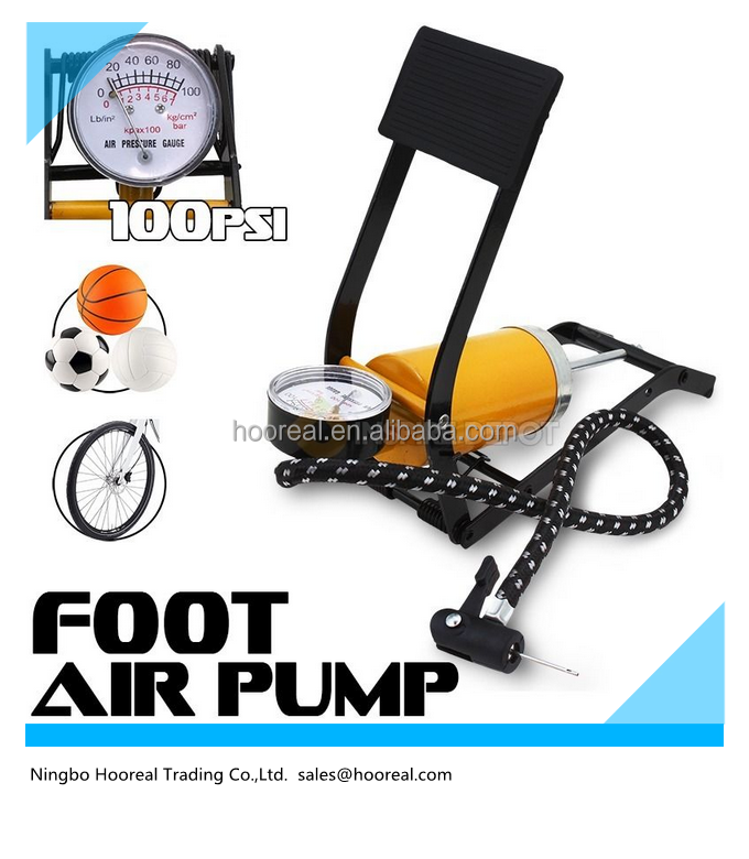 New Bicycle Bike Foot Operated Tire Pump Inflator Basketball Power Air Mattress Ball With CE Certificate