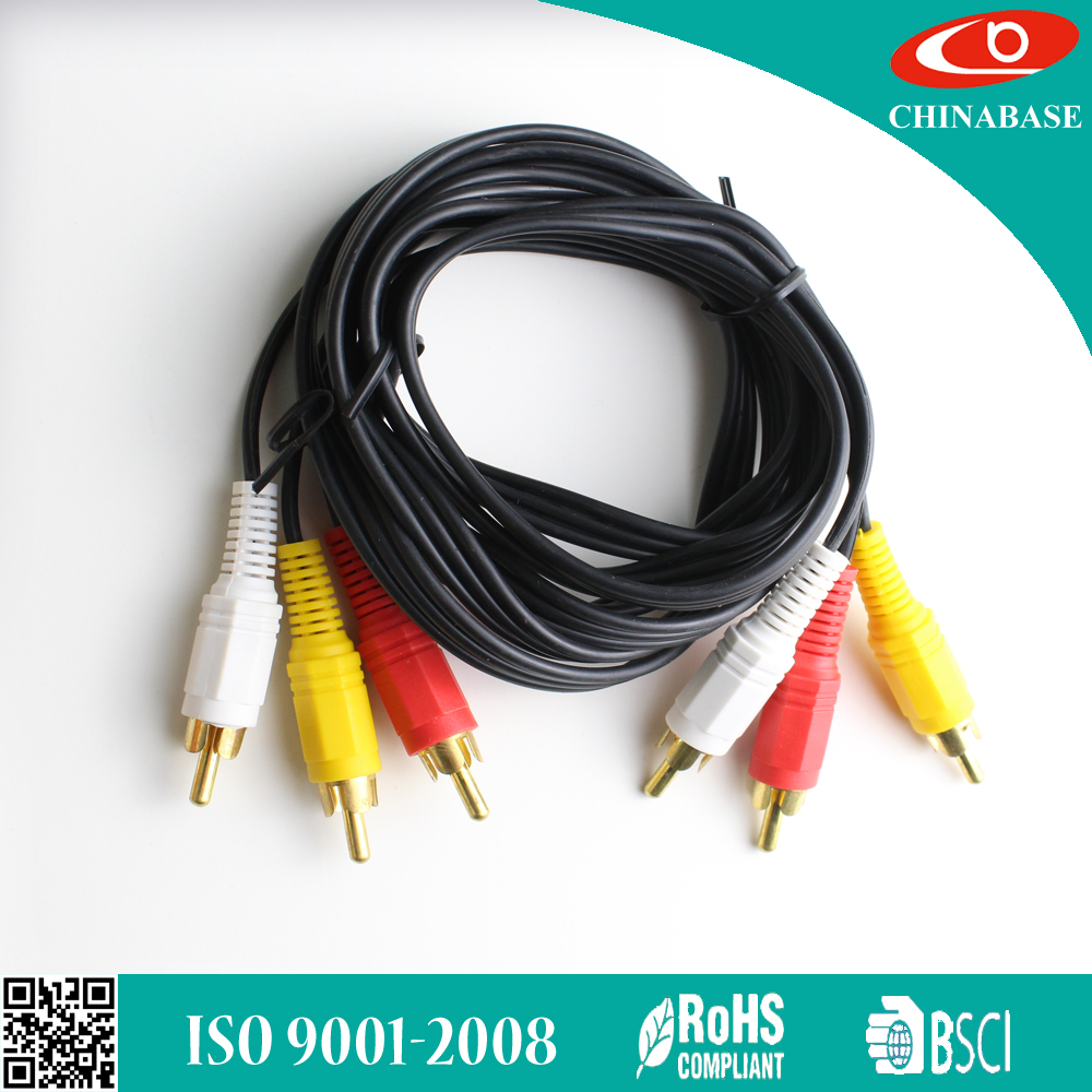 hot selling RCA audio cable supply american market 1.8m 3rca to 3rca cable