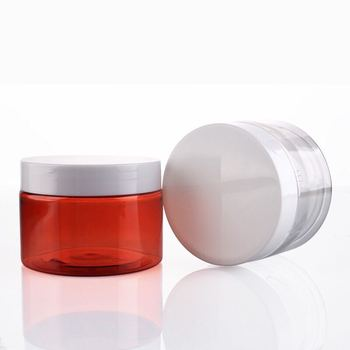 manufacturers hot selling empty sized PET plastic face eye cream PETG facial care mask jarm jar with good offer