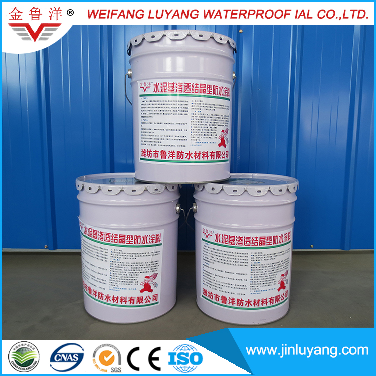 cementitious capillary crystalline waterproof concrete slurry