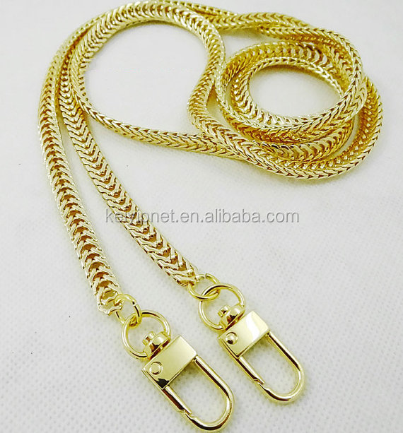 Fashion Metal strap bag chain purse shoulder chain