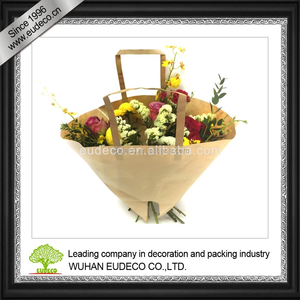 KRAFT PAPER FLOWER BAG MOON SHAPE