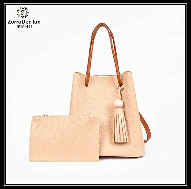 Cow leather ladies bucket bag genuine leather tote bag for women