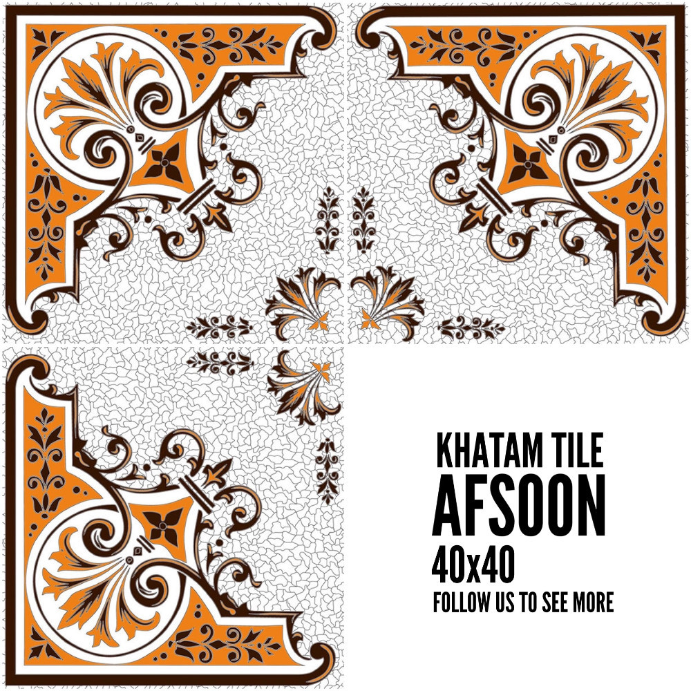 Khatam Ceramic Tile / Made in Iran / 40*40