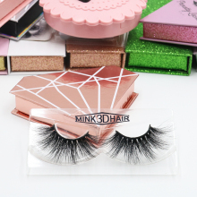Hot 25mm 3D Mink Eyelashes Private Label Lashes With Packaging Boxes Eyelash