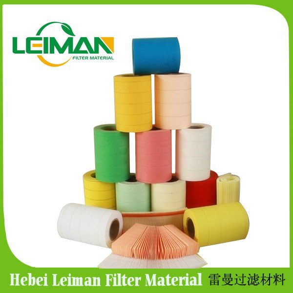 Auto air filter pape roll /all color wood pulp paper with High quality low price