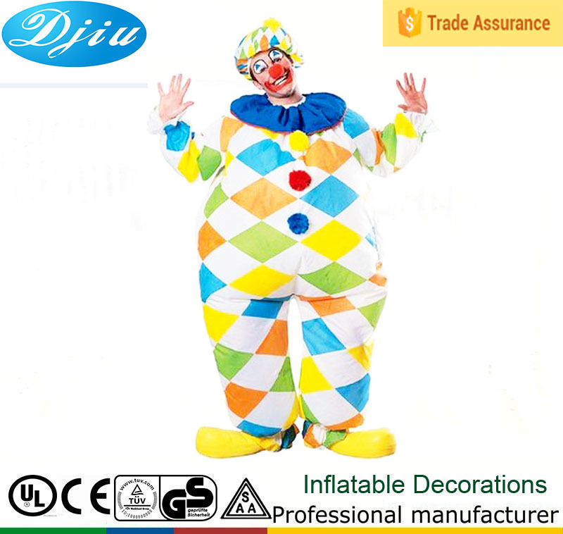 Adult Inflatable clown costume,inflatable mascot clown cartoon