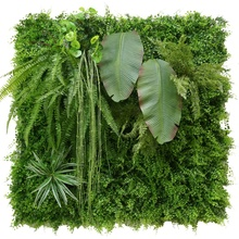 Home Garden Decorative DIY Wall Hanging Synthetic Grass Fence Fake Foliage Green Wall Artificial Plants for Wall Decoration