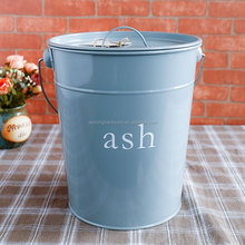 Trade Show Hottest Home & Garden WHITE Metal Buckets/Portable High Quality Ash/Ice/coal Bucket/pails