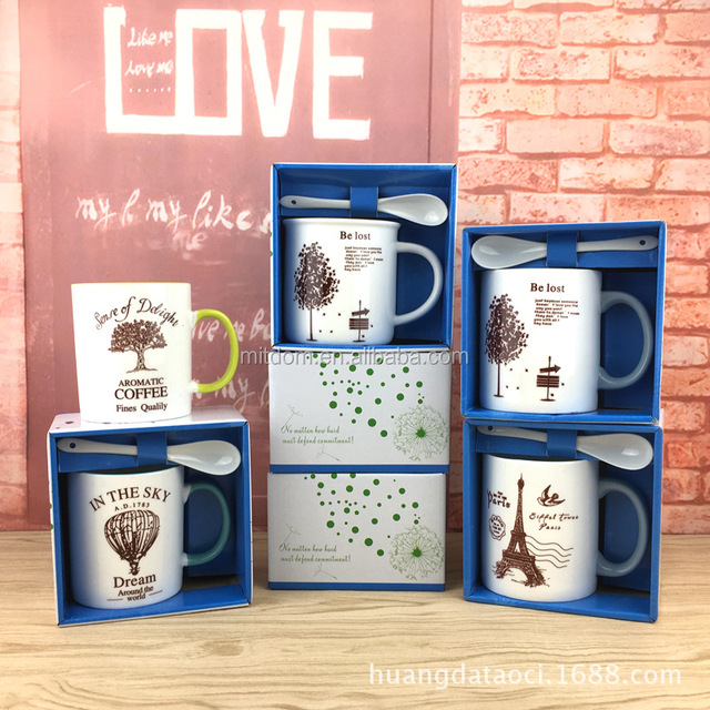 Creative mugs ceramic cups coffee cups advertising gifts custom logo