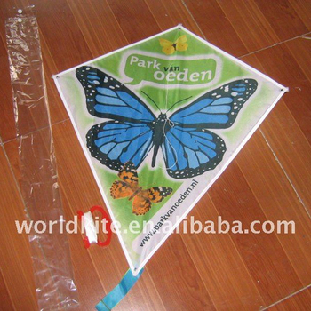 single line promotional diamond kite