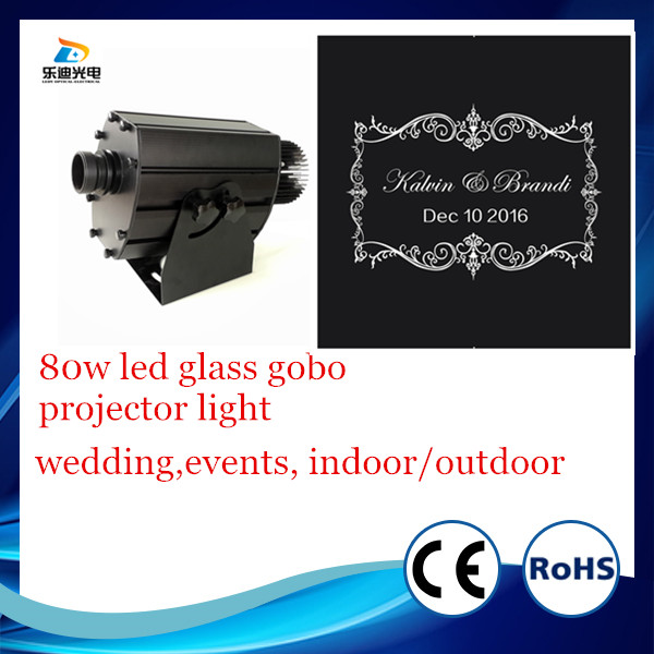 picture projector 80w led 10000 lumens 62mm large gobo size