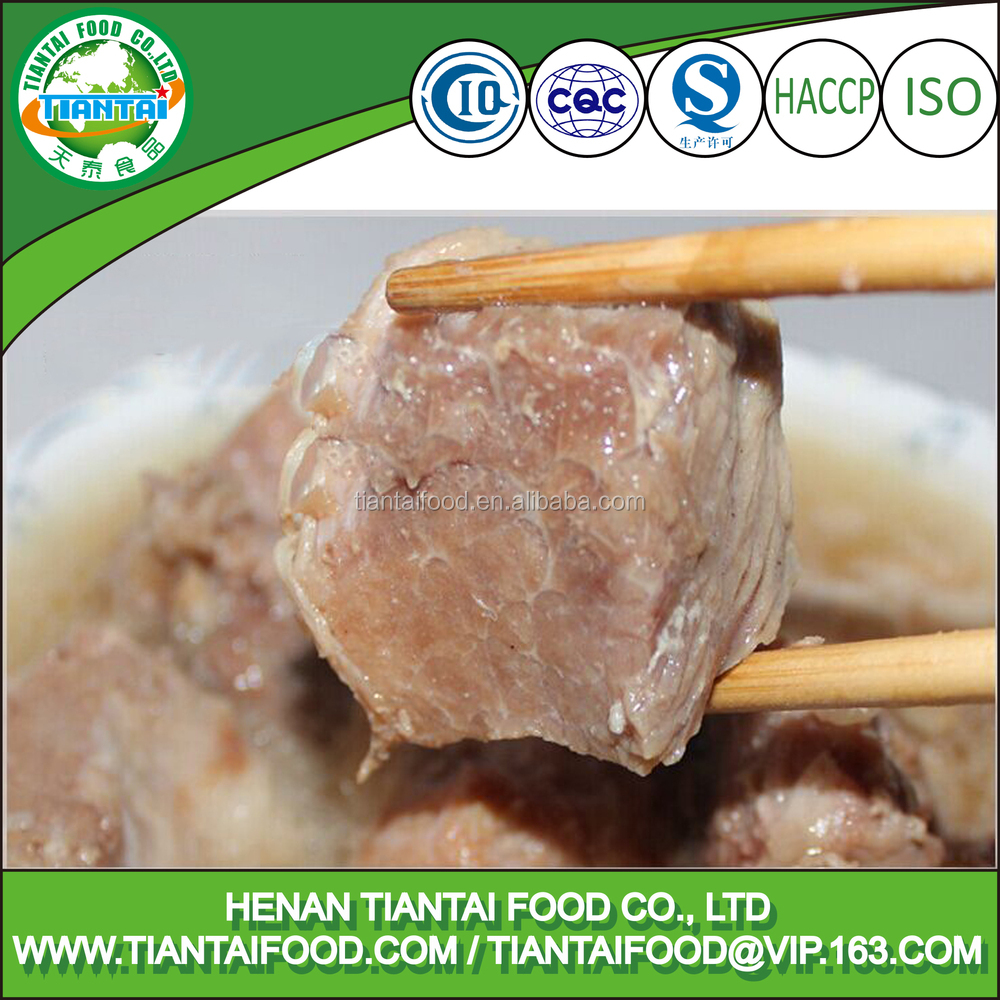 china supplier cans food canned steamed pork