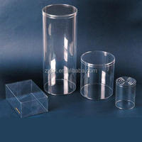 Custom PVC cylinder box , Clear plastic tube packaging