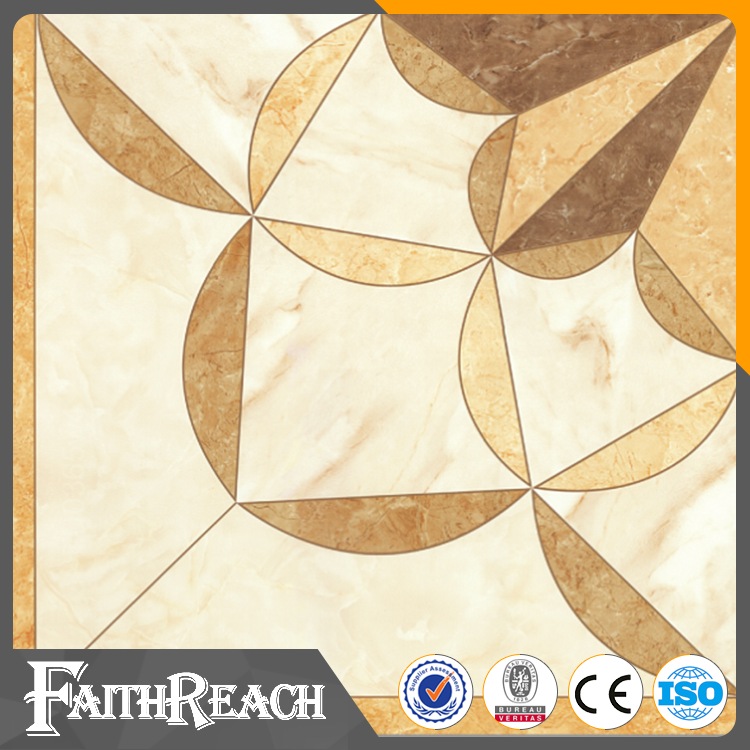 Polished or glazed lovely pattern ceramic floor tile