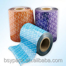 plastic cup sealing roll film PE \PE Lamination Packing Food Roll Film Stock For Rice