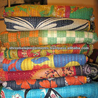 Wholesale Discounted Price Decorative Indian Kantha Stitched Quilt Throws Blanket