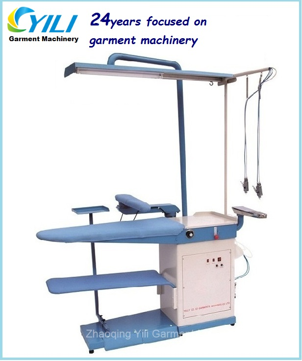 Suction and blowing table with guns/ Commercial laundry spot removing and ironing machine